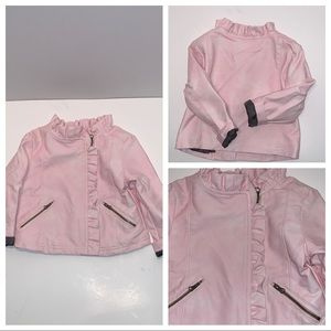 Genuine Kids from Oshkosh pleather pink jacket